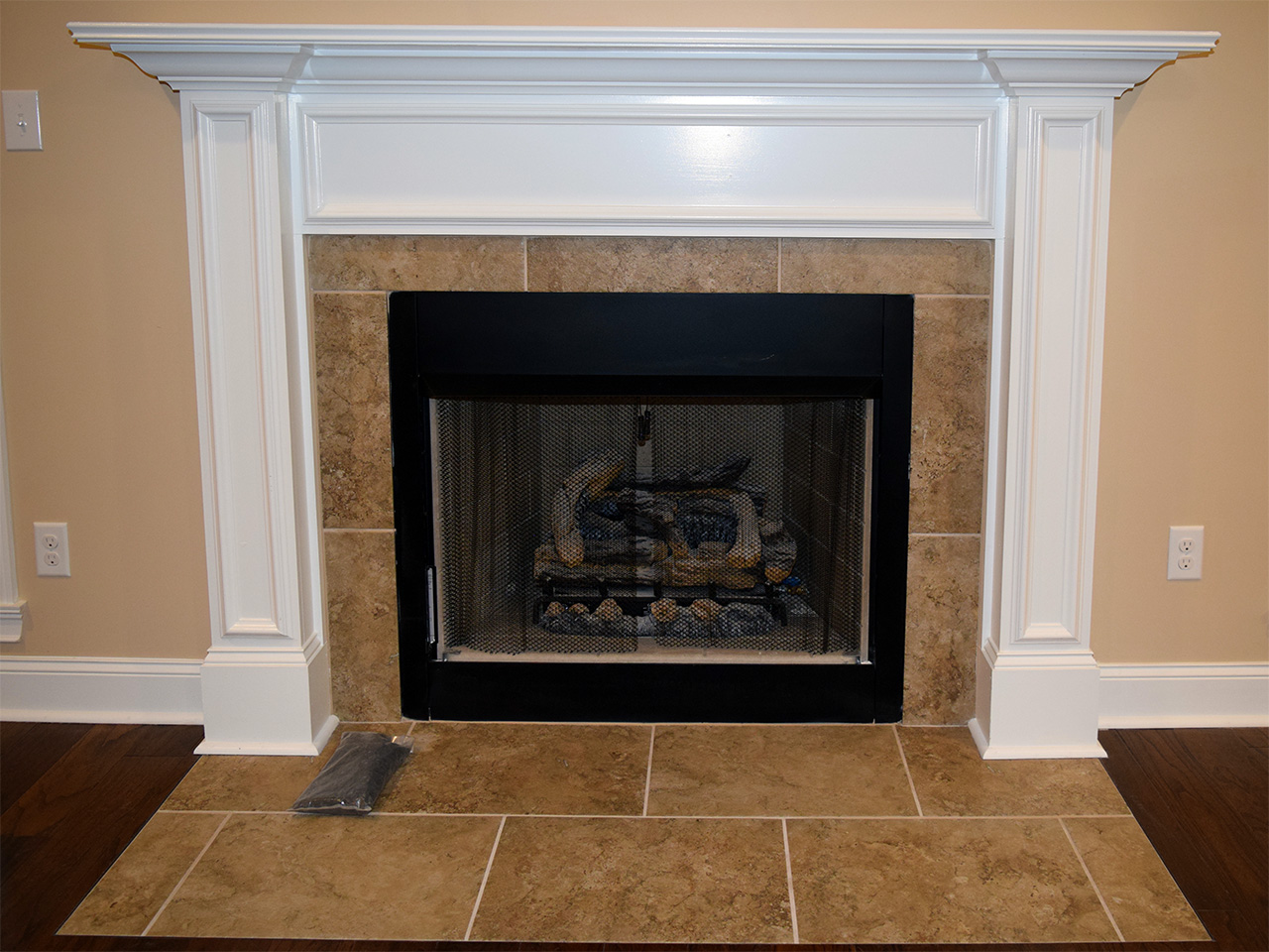 Hill Construction tiled fireplace.